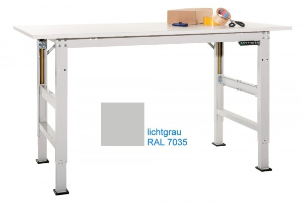 Packtisch Packpool Ergo E Memory in lichtgrau RAL 7035 (-RAL7035)
